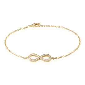 Damenarmband Vergoldet Zirkonia Infinity -  Damen | Oro Vivo