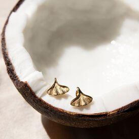 Damen Ohrhänger Edelstahl Vergoldet Blatt - Ohrhänger  | Oro Vivo