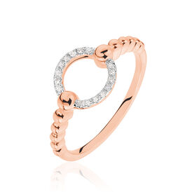 Damenring Roségold 375 Diamanten 0,043ct - Ringe mit Edelsteinen Damen | Oro Vivo