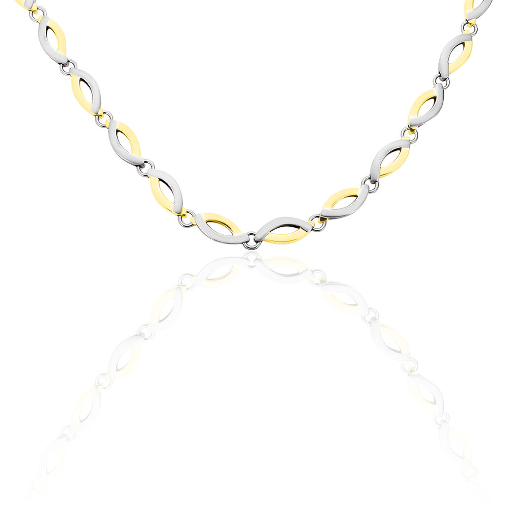 Boccia Damen Collier Titan Bicolor Vergoldet - Black Friday Damen | Oro Vivo