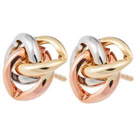 Damen Ohrstecker Gold 375 Tricolor - Ohrstecker Damen | Oro Vivo