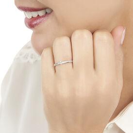 Damenring Weißgold 375 Diamant 0,14ct - Ringe mit Edelsteinen Damen | Oro Vivo