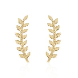 Damen Ohrklemme Vergoldet Blatt -  Damen | Oro Vivo