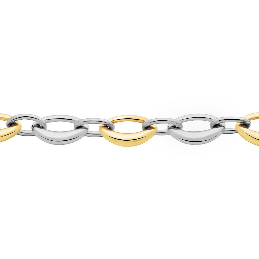 Damenarmband Edelstahl Vergoldet Bicolor  - Armketten Damen | Oro Vivo
