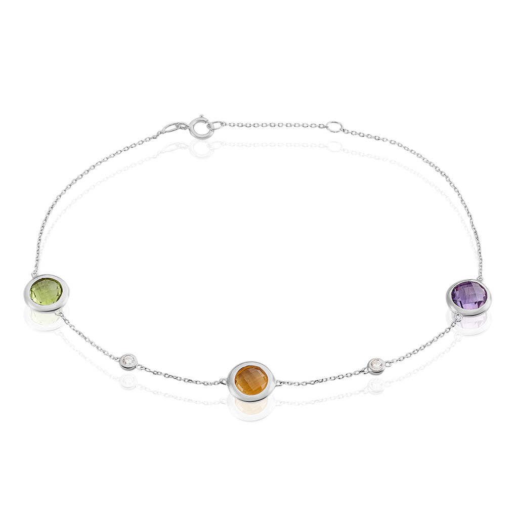 Damenarmband Weißgold 375 Amethyst Zirkonia - Armbänder Damen | Oro Vivo