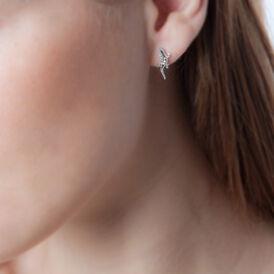 Damen Ohrstecker Silber 925 Zirkonia Salamander - Kategorie Damen | Oro Vivo