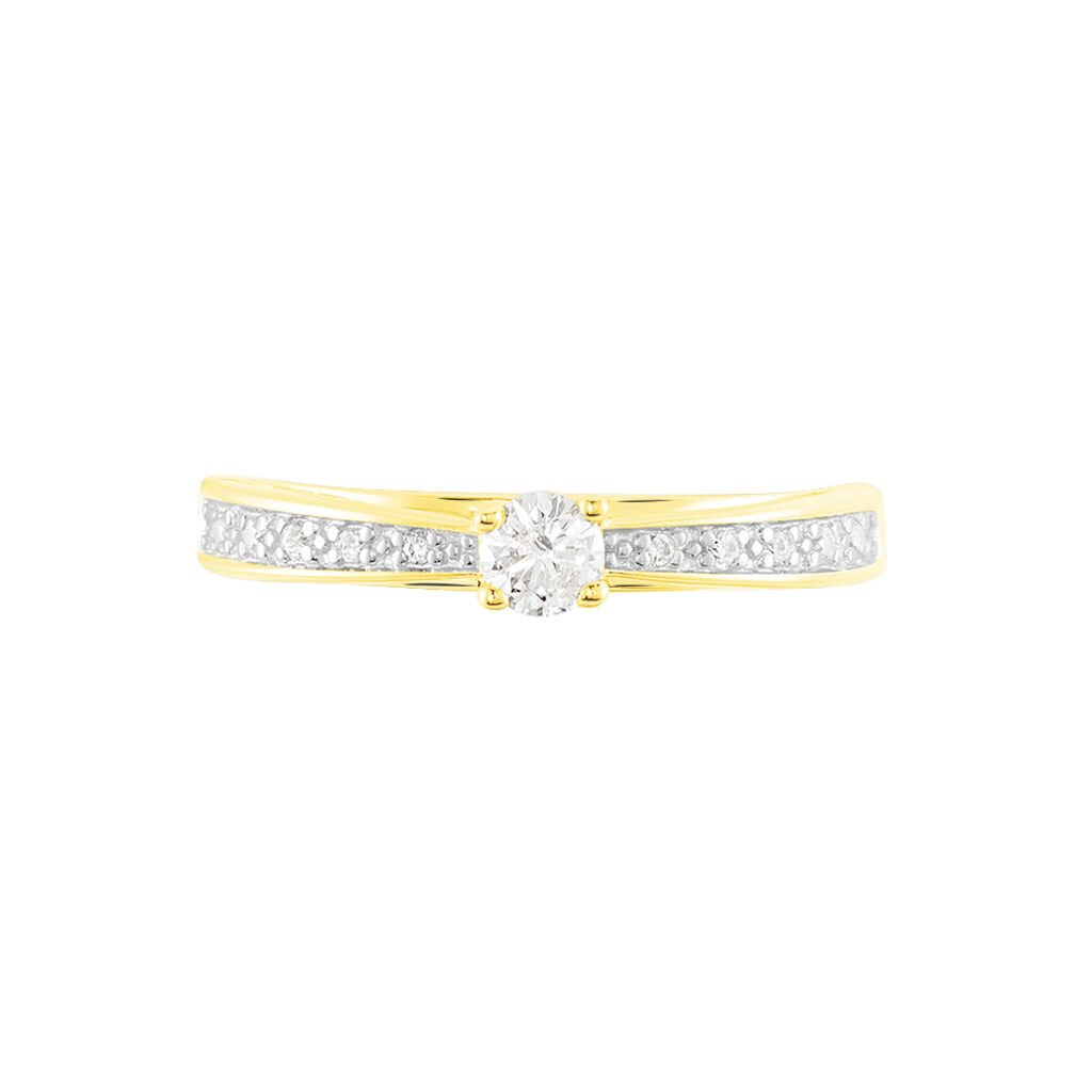 Damenring Gold 375 Diamanten 0,22ct - Ringe mit Edelsteinen Damen | Oro Vivo