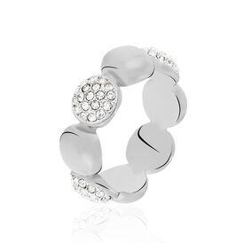 Damenring Edelstahl Kristallsteine - Ringe mit Stein Damen | Oro Vivo