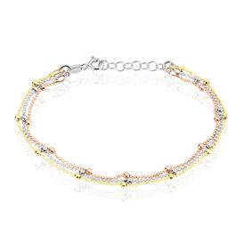 Damenarmband Kugelkette Silber 925 Tricolor  - Armbänder Damen | Oro Vivo