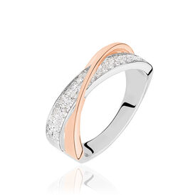 Damenring Gold 750 Bicolor Diamanten 0,31ct - Black Friday Damen | Oro Vivo