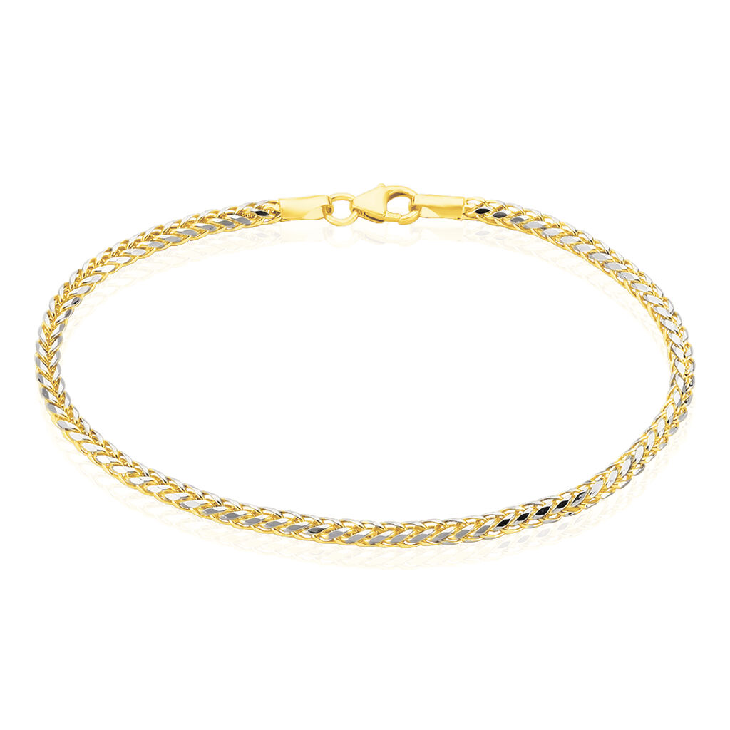 Damenarmband Gold 585 Bicolor  - Armketten Damen   Oro Vivo