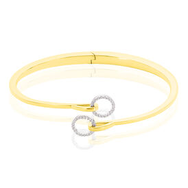 Damen Armreif Vergoldet Zirkonia - Armreifen Damen   Oro Vivo