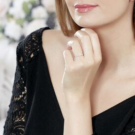 Damenring Weißgold 375 Diamant 0,1ct - Ringe mit Edelsteinen Damen | Oro Vivo