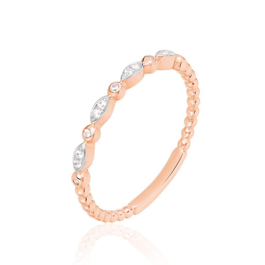 Damenring Gold 375 Bicolor Zirkonia - Ringe mit Stein Damen   Oro Vivo