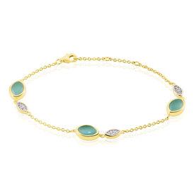 Damenarmband Silber 925 Vergoldet Glas Zirkonia  -  Damen | Oro Vivo