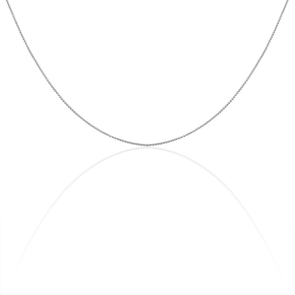 Damen Zopfkette Weißgold 585 42cm - Ketten ohne Anhänger Damen   Oro Vivo