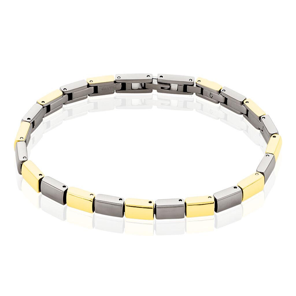 Boccia Damenarmband Titan Vergoldet Bicolor - Armbänder Damen | Oro Vivo
