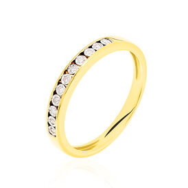 Damenring Gold 375 Diamanten 0,044ct - Eheringe Damen | Oro Vivo