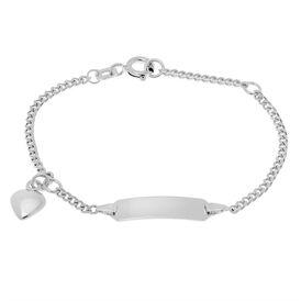 Kinder Id Armband Panzerkette Silber 925 Herz -  Kinder | Oro Vivo