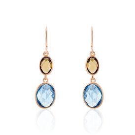 Damen Ohrhänger Lang Silber 925 Rosé Vergoldet -  Damen | Oro Vivo