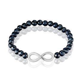 Damenkugelarmband Silber 925 Hämatit Infinity - Black Friday Damen | Oro Vivo