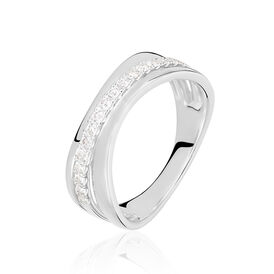 Damenring Weißgold 750 Diamanten 0,179ct - Black Friday Damen | Oro Vivo