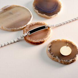 Herren Id Armband Silber 925 Vergoldet Bicolor  - ID-Armbänder Herren | Oro Vivo