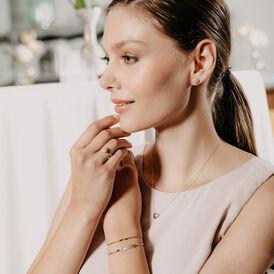 Damen Halskette Gold 375 Diamanten 0,035ct Herz - Herzketten Damen | Oro Vivo