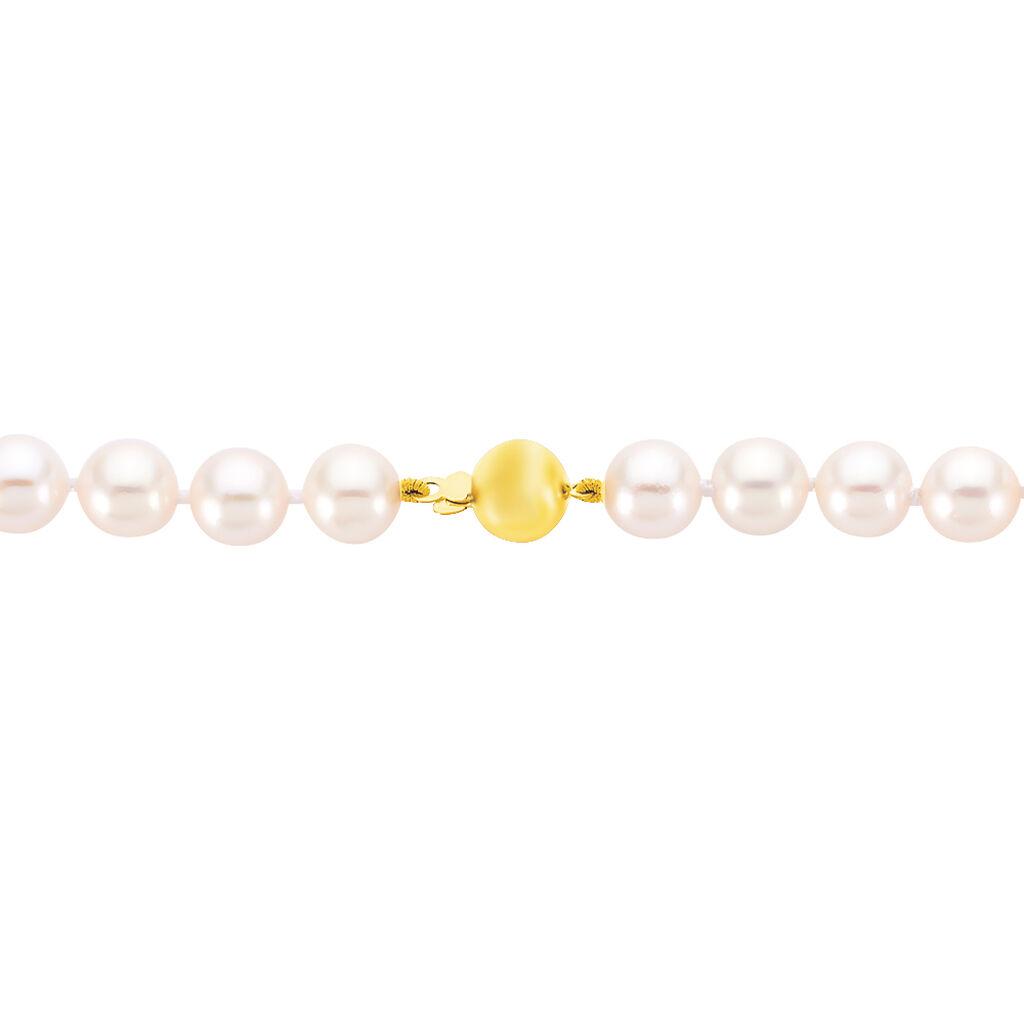 Damen Collier Gold 585 Akoyaperlen 7-7,5mm - Ketten mit Stein Damen | Oro Vivo