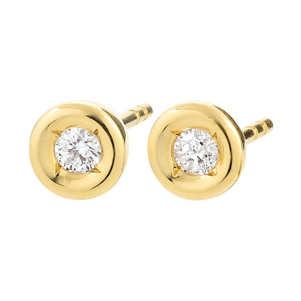 Damen Ohrstecker Gold 585 Diamant 0,1ct - Ohrstecker Damen | Oro Vivo