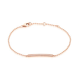 Damenkugelarmband Zirkonia Rosé Vergoldet  - Armbänder Damen | Oro Vivo