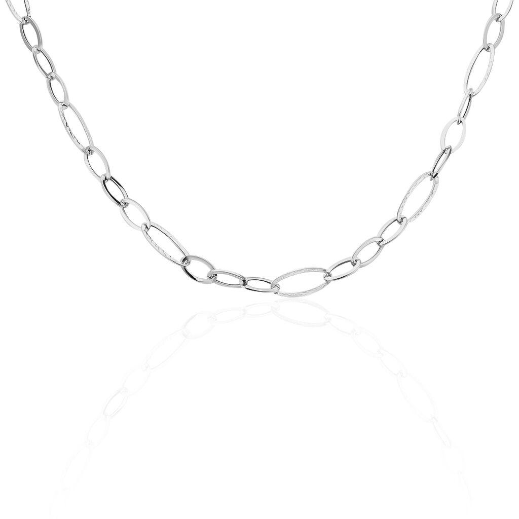 Damen Halskette Weißgold 375 80cm - Ketten ohne Anhänger Damen | Oro Vivo