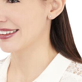 Damen Ohrstecker Weißgold 375 Diamant 0,07ct  - Ohrstecker Damen | Oro Vivo