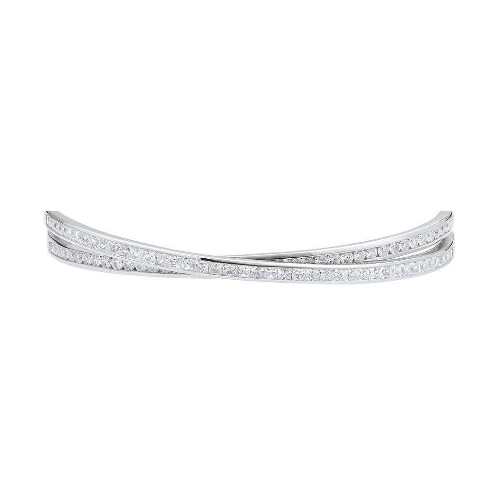 Damen Armreif Silber 925 Zirkonia - Armreifen Damen   Oro Vivo