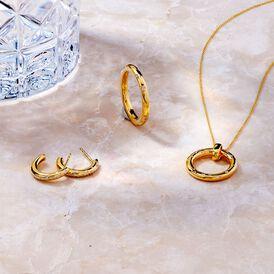 Damen Halskette Gold 375 Diamanten 0,16ct - Ketten mit Anhänger    Oro Vivo
