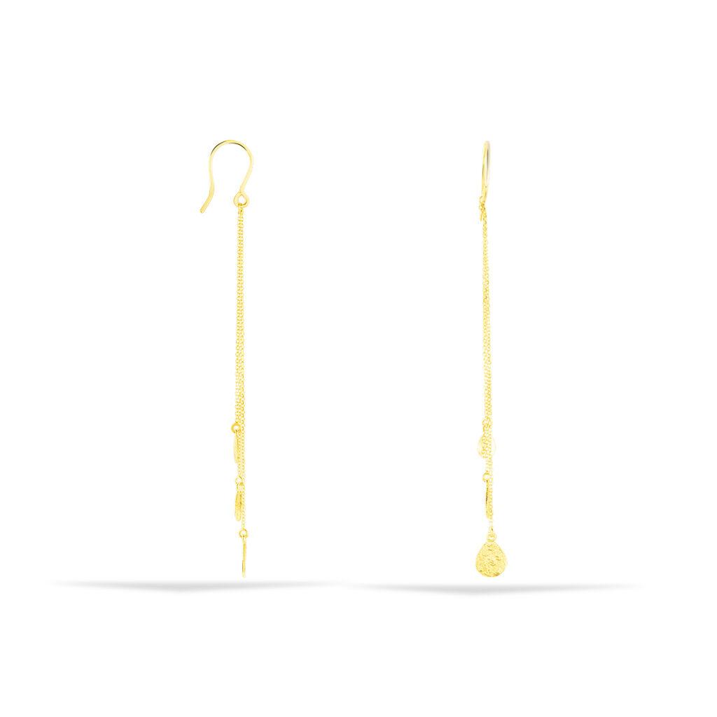 Damen Ohrhänger Lang Gold 375 Tropfen - Ohrhänger Damen   Oro Vivo