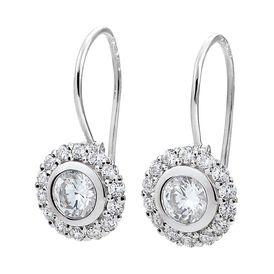 Damen Ohrhänger Silber 925 Zirkonia - Ohrhänger    Oro Vivo