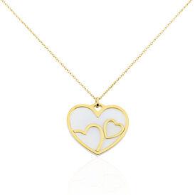 Damen Halskette Silber 925 Vergoldet Herz - Herzketten Damen | Oro Vivo