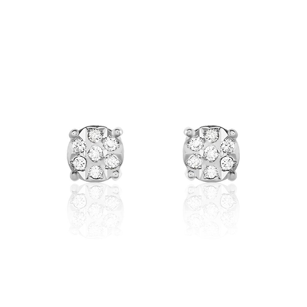 Damen Ohrstecker Weißgold 375 Diamant 0,058ct  - Ohrstecker Damen   Oro Vivo