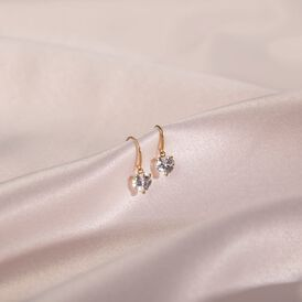 Damen Ohrhänger Gold 375 Zirkonia Herz - Ohrhänger Damen   Oro Vivo