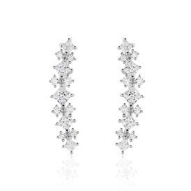 Damen Ohrklemme Silber 925 Zirkonia - Ohrringe  | Oro Vivo