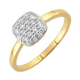 Damenring Silber 925 Vergoldet Zirkonia - Ringe mit Stein Damen | Oro Vivo