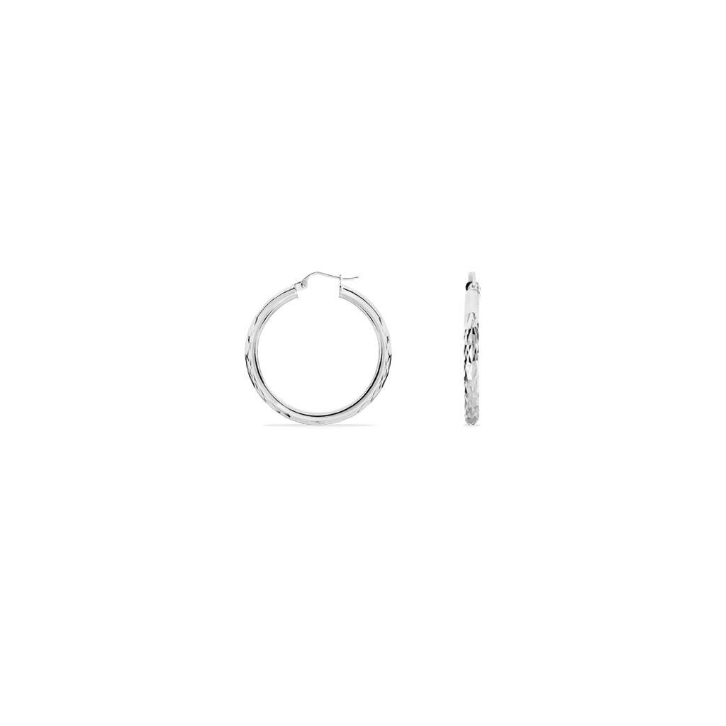 Damen Creolen Silber 925 30mm -  Damen | Oro Vivo