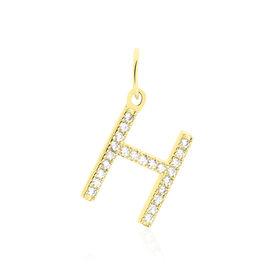 Anhänger Gold 375 Zirkonia Buchstabe H - Personalisierte Geschenke Damen | Oro Vivo