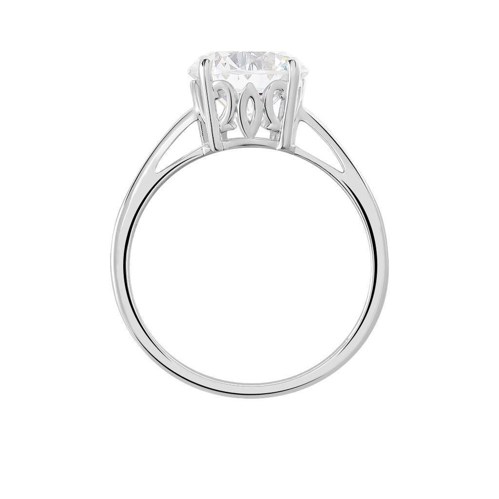 Solitärring Silber 925 Zirkonia - Ringe mit Stein Damen   Oro Vivo