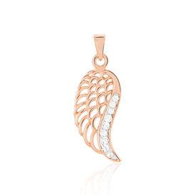 Anhänger Silber 925 Rosé Vergoldet Kristall  - Schmuckanhänger Damen | Oro Vivo