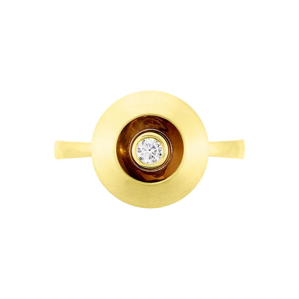 Solitärring Gold 375 Diamant 0,09ct Heiko Schrem - Ringe mit Edelsteinen Damen | Oro Vivo