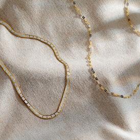 Damen Singapurkette Gold 375 Bicolor 50cm - Ketten ohne Anhänger Damen   Oro Vivo