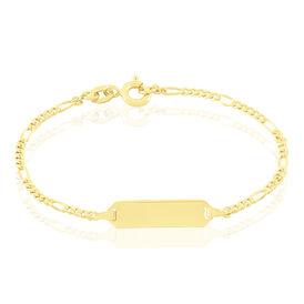 Kinder Id Armband Figarokette Gold 375  - ID-Armbänder Kinder | Oro Vivo