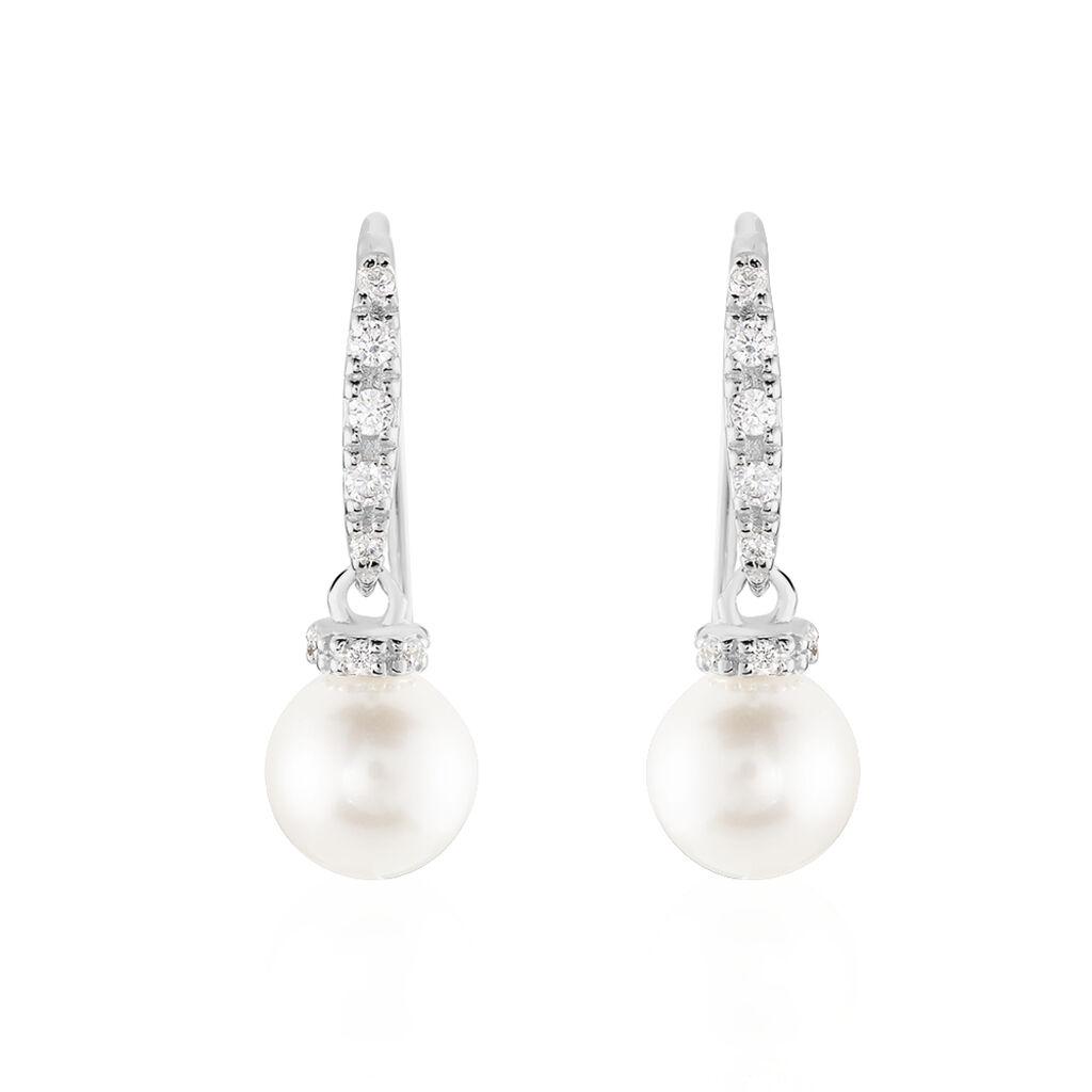 Damen Perlenohrringe Silber 925 Zuchtperlen - Ohrhänger Damen | Oro Vivo
